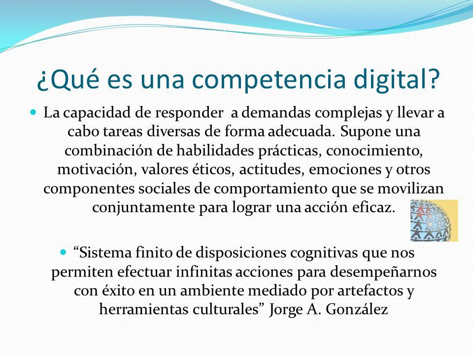 ¿Qué es una competencia digital