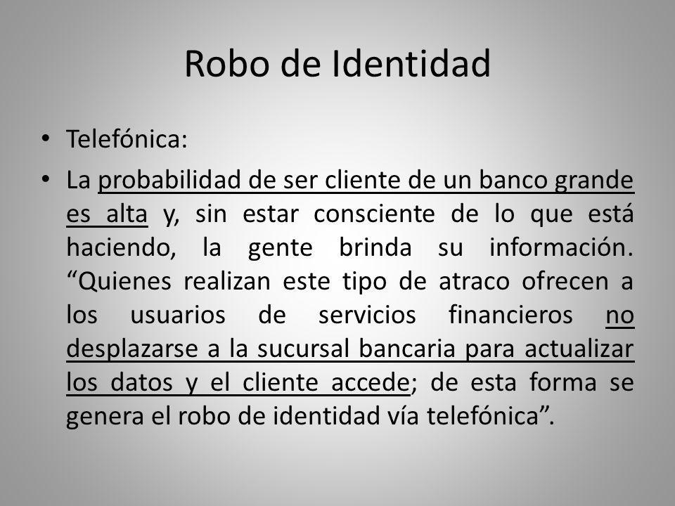 Robo de Identidad Telefónica: