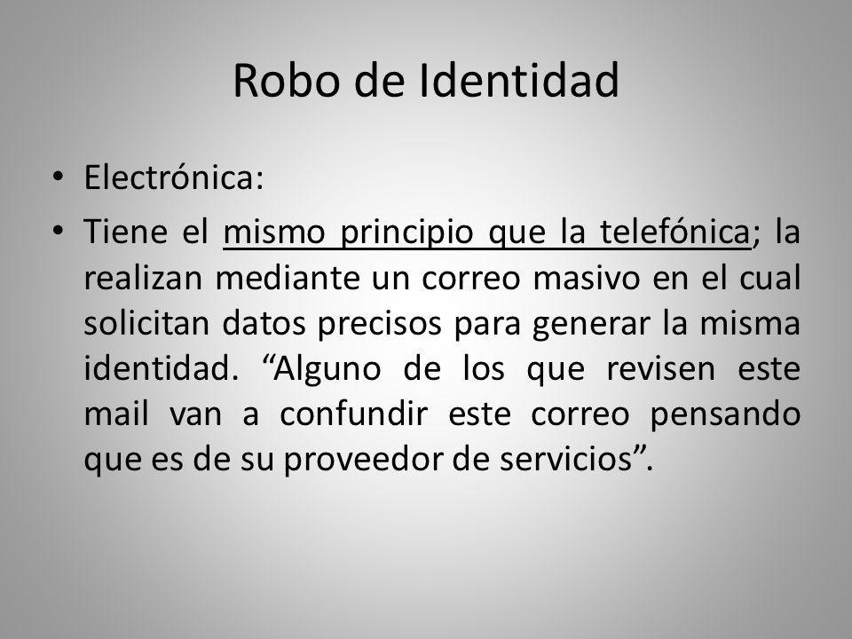 Robo de Identidad Electrónica: