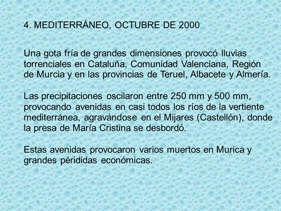 4. MEDITERRÁNEO, OCTUBRE DE 2000