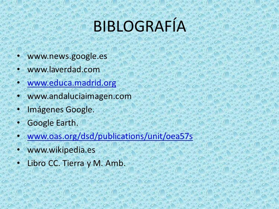 BIBLOGRAFÍA www.news.google.es www.laverdad.com www.educa.madrid.org