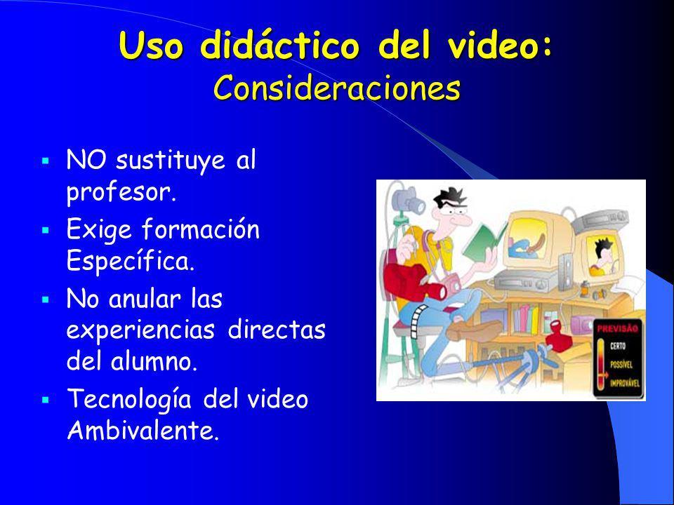 Uso didáctico del video: Consideraciones