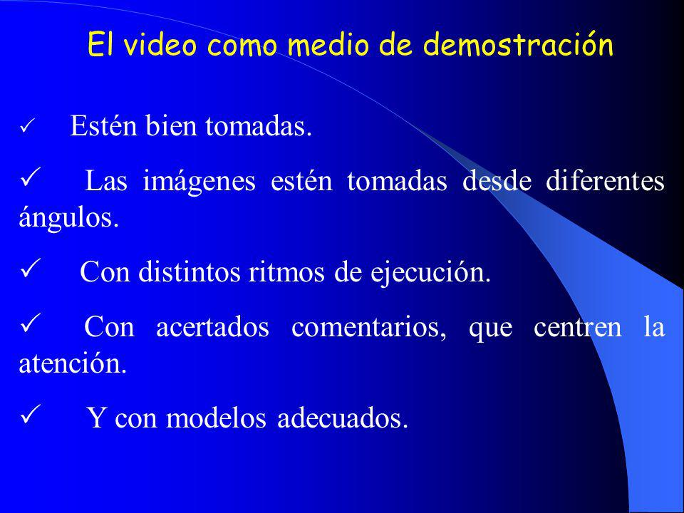 El video como medio de demostración