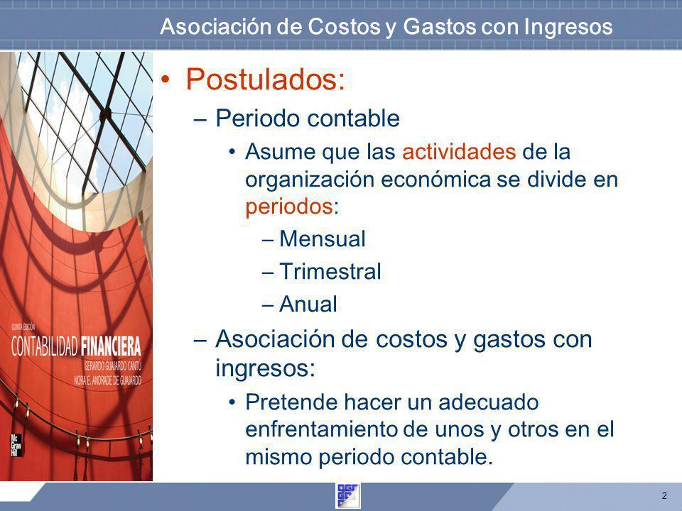 Asociación de Costos y Gastos con Ingresos