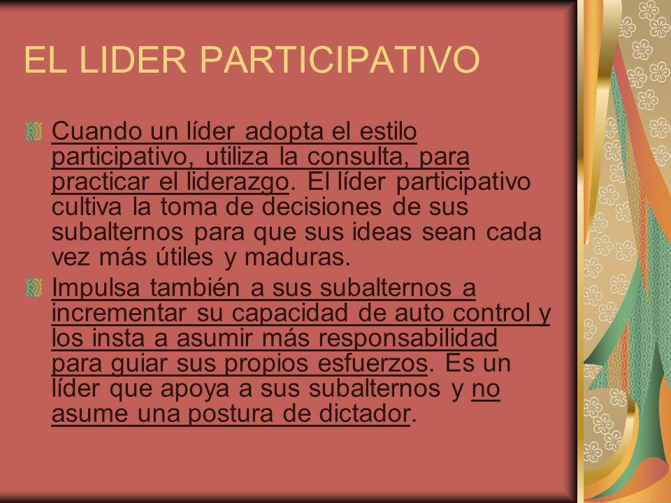 EL LIDER PARTICIPATIVO