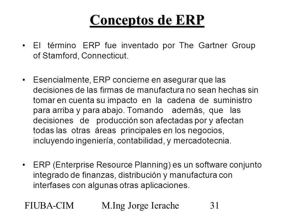 Conceptos de ERP FIUBA-CIM M.Ing Jorge Ierache