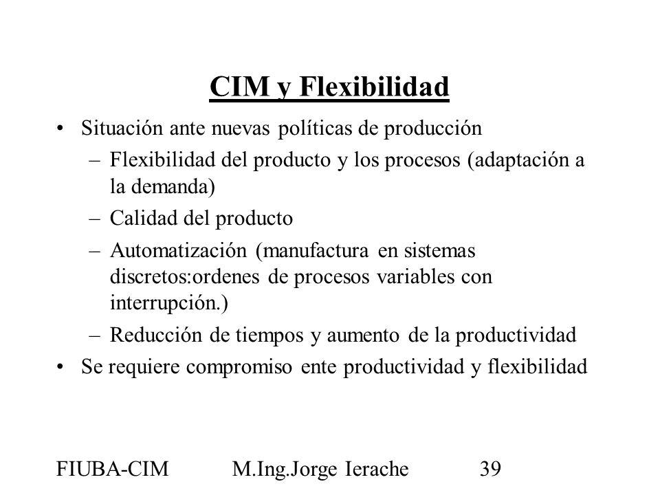 CIM y Flexibilidad Situación ante nuevas políticas de producción
