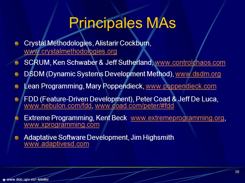Principales MAs Crystal Methodologies, Alistarir Cockburn,