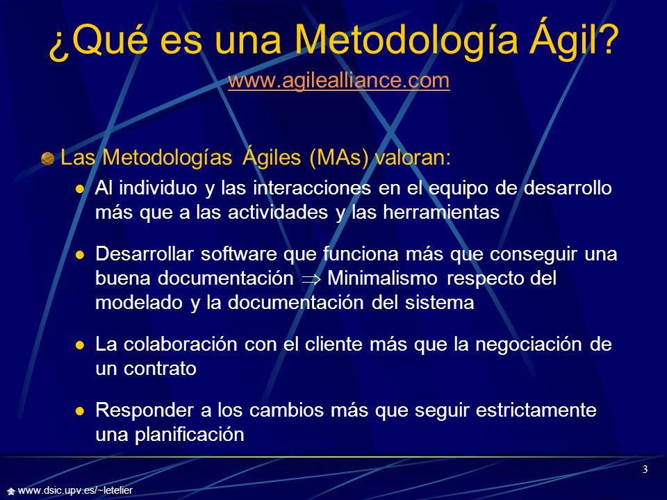 ¿Qué es una Metodología Ágil www.agilealliance.com