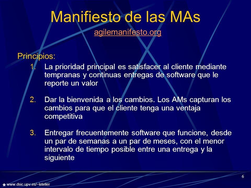 Manifiesto de las MAs agilemanifesto.org