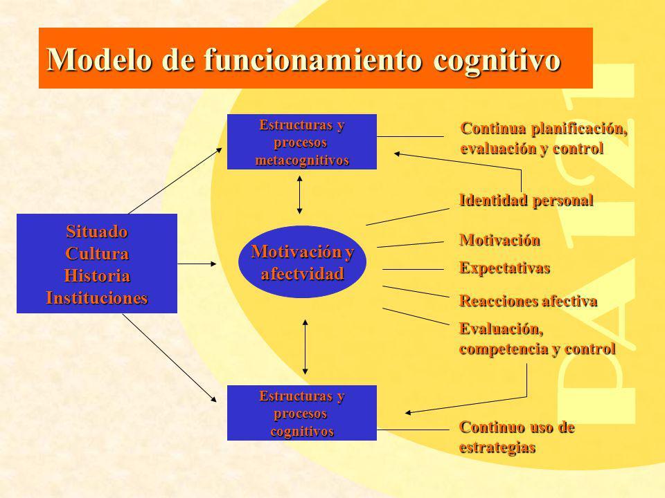 PA121 Modelo de funcionamiento cognitivo Situado Cultura Motivación y