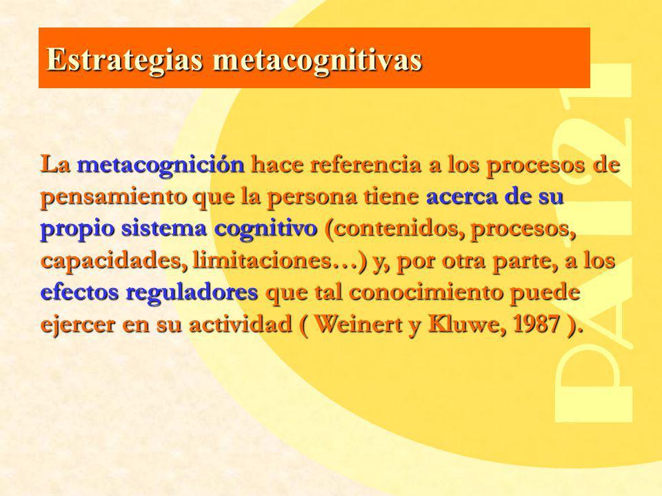 PA121 Estrategias metacognitivas