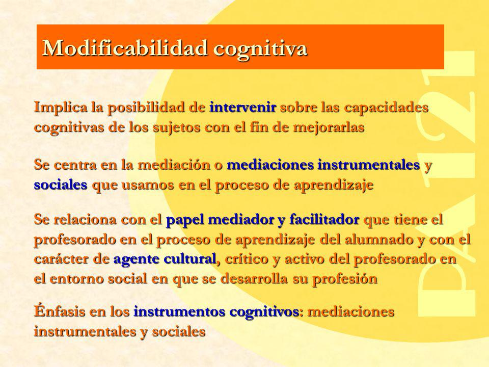 PA121 Modificabilidad cognitiva