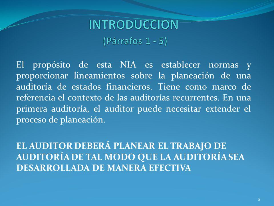 INTRODUCCION (Párrafos 1 - 5)