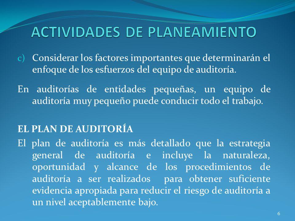 ACTIVIDADES DE PLANEAMIENTO