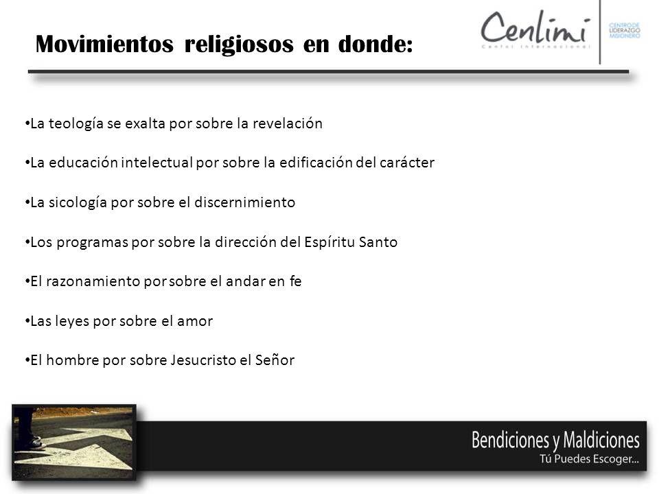 Movimientos religiosos en donde: