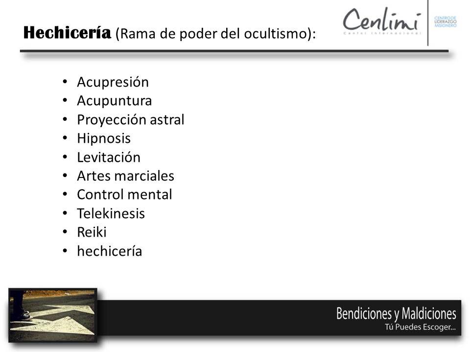 Hechicería (Rama de poder del ocultismo):