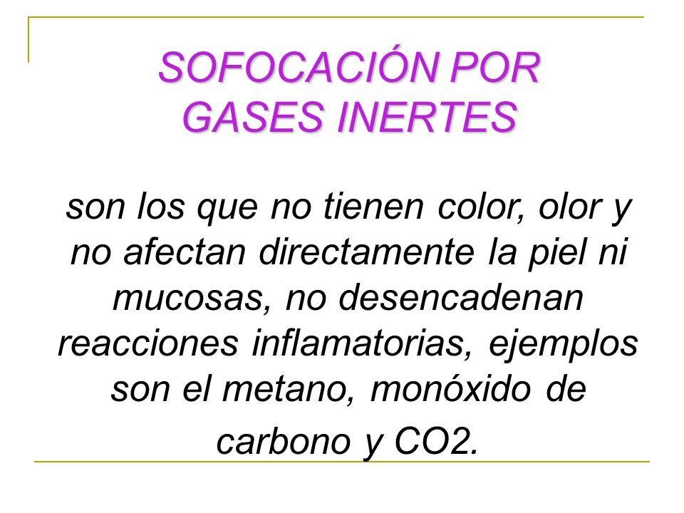 SOFOCACIÓN POR GASES INERTES