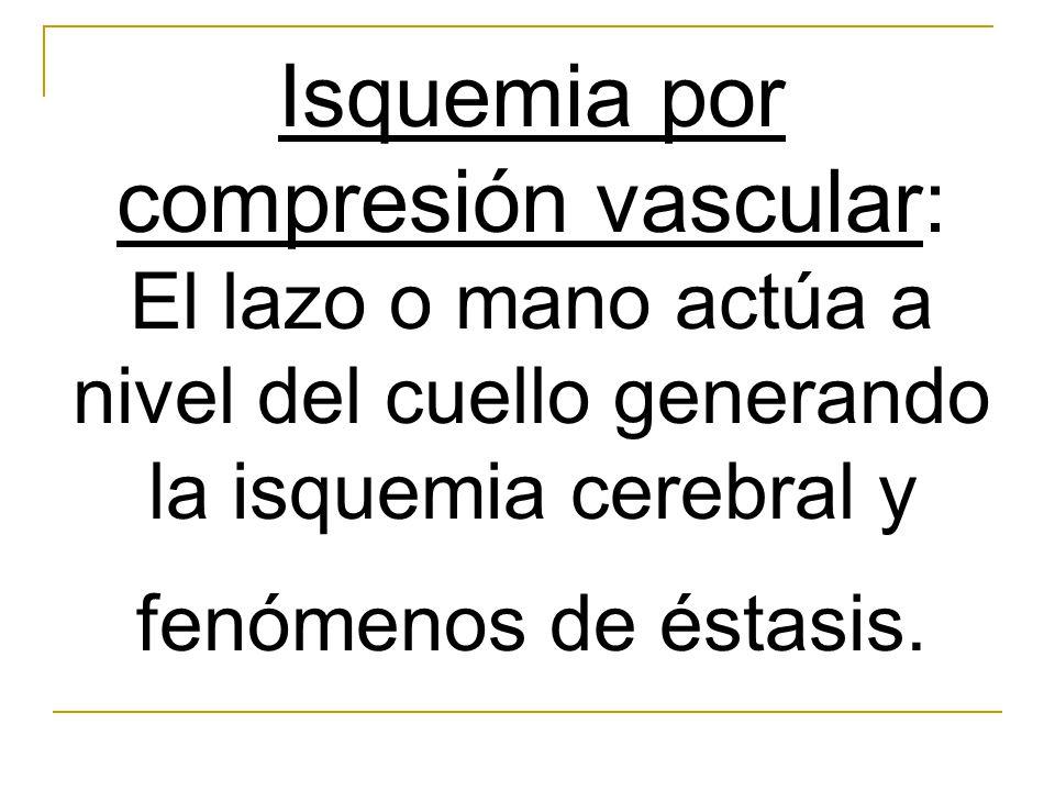 Isquemia por compresión vascular: