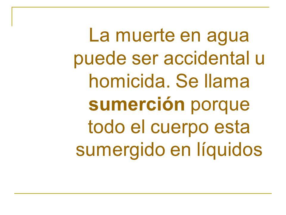 La muerte en agua puede ser accidental u homicida