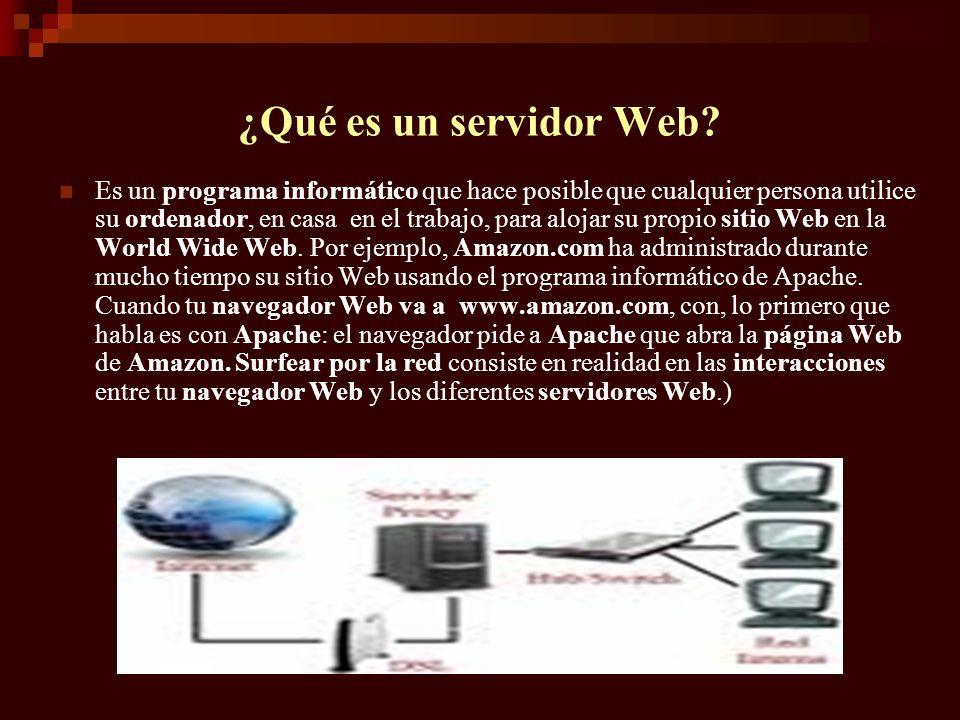 ¿Qué es un servidor Web
