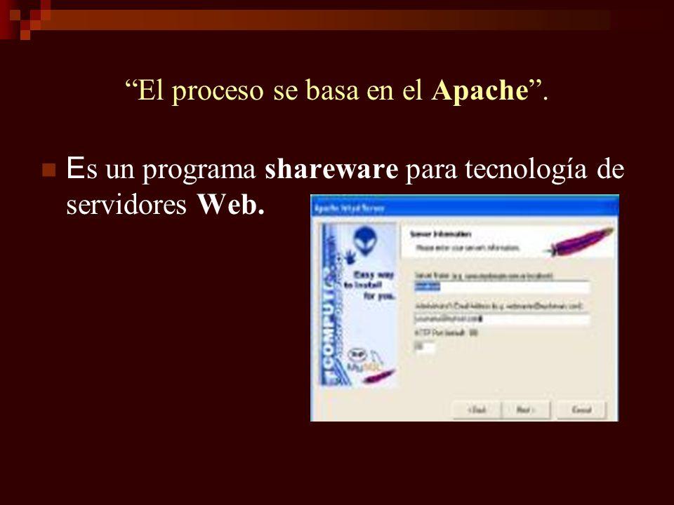 El proceso se basa en el Apache .