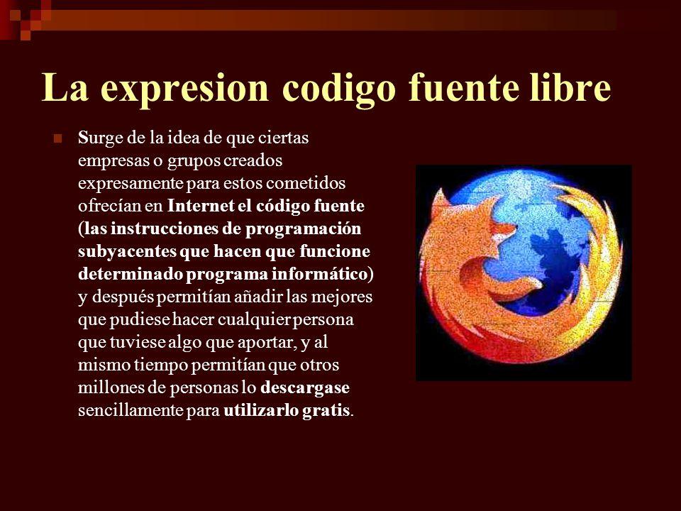 La expresion codigo fuente libre