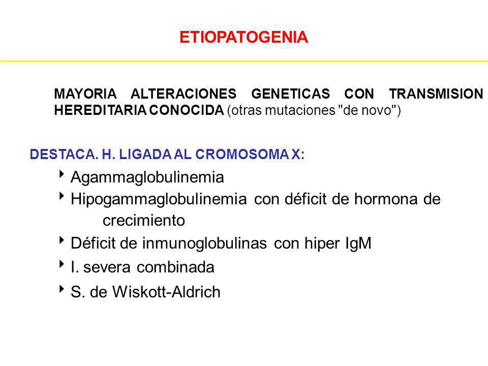Hipogammaglobulinemia con déficit de hormona de crecimiento