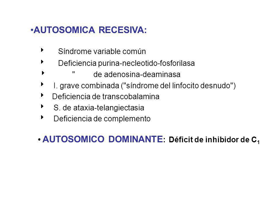 AUTOSOMICA RECESIVA:  Síndrome variable común