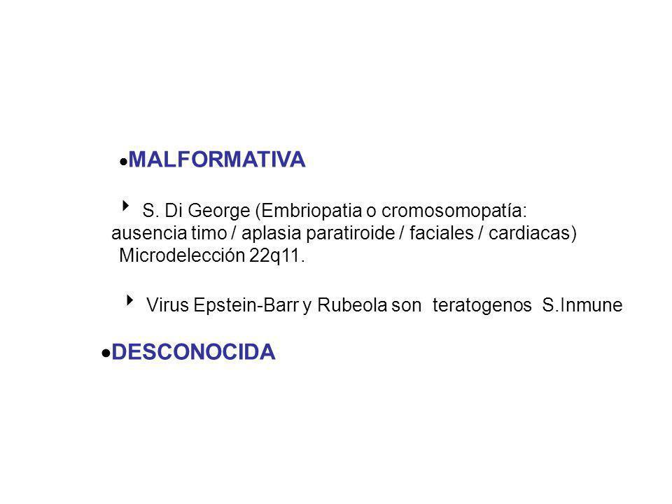 ·MALFORMATIVA ·DESCONOCIDA