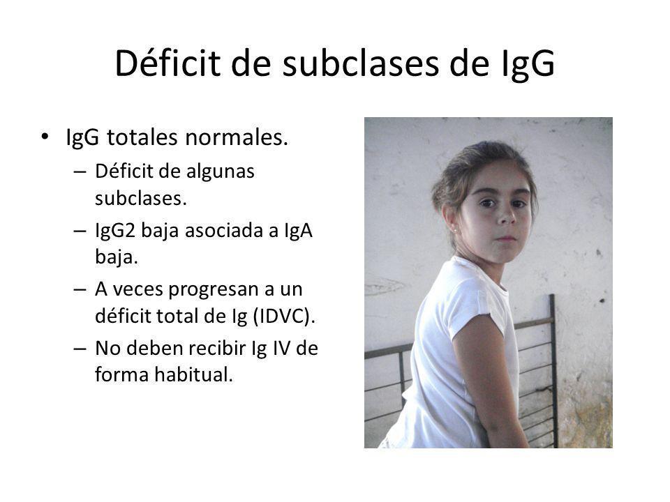 Déficit de subclases de IgG