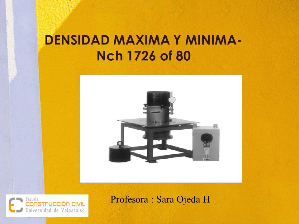 DENSIDAD MAXIMA Y MINIMA- Nch 1726 of 80