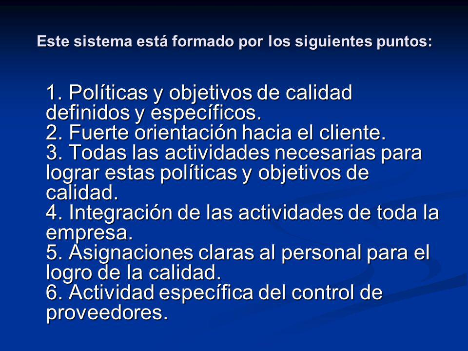 Este sistema está formado por los siguientes puntos: