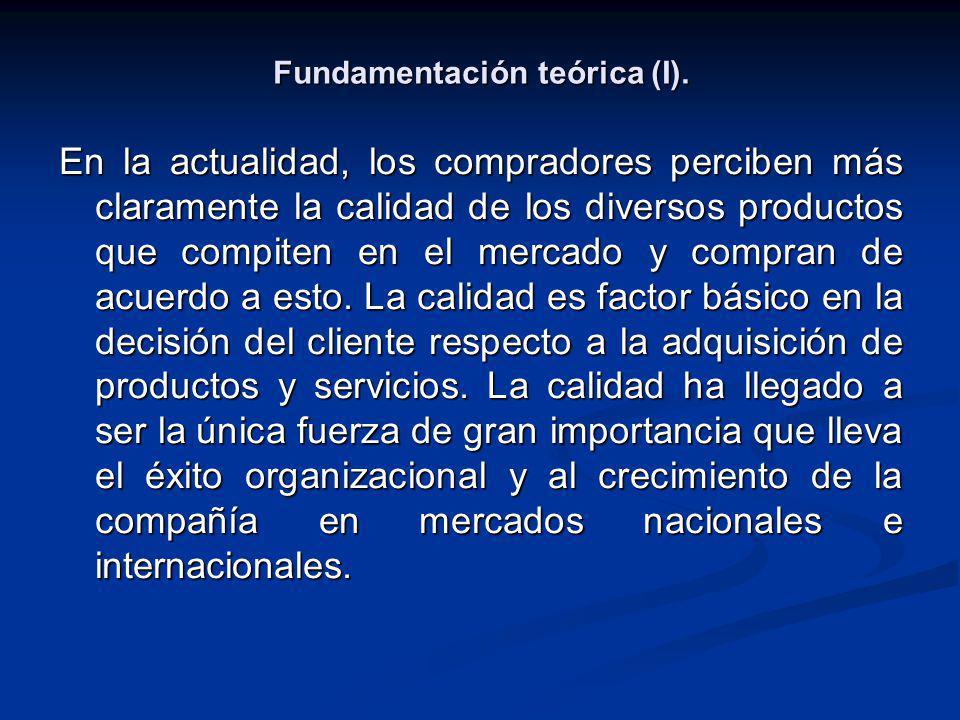 Fundamentación teórica (I).