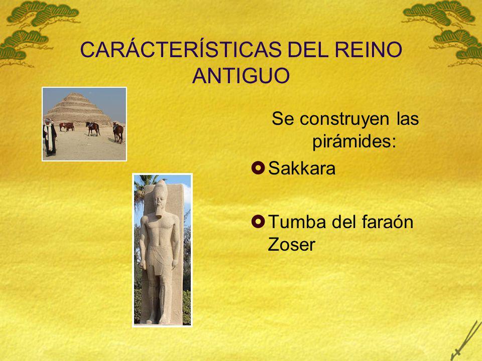 CARÁCTERÍSTICAS DEL REINO ANTIGUO