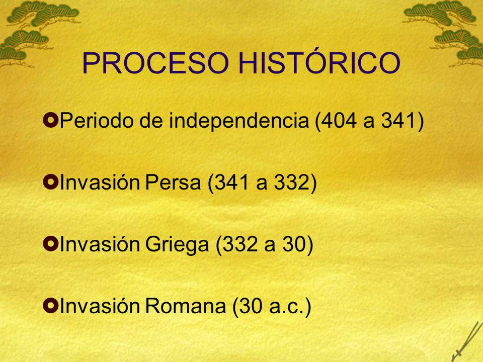 PROCESO HISTÓRICO Periodo de independencia (404 a 341)