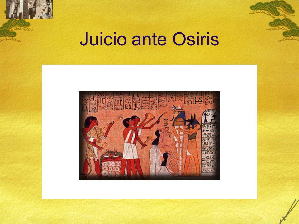 Juicio ante Osiris Quien le permitía unir su Ka con su Ba