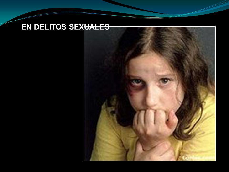 EN DELITOS SEXUALES