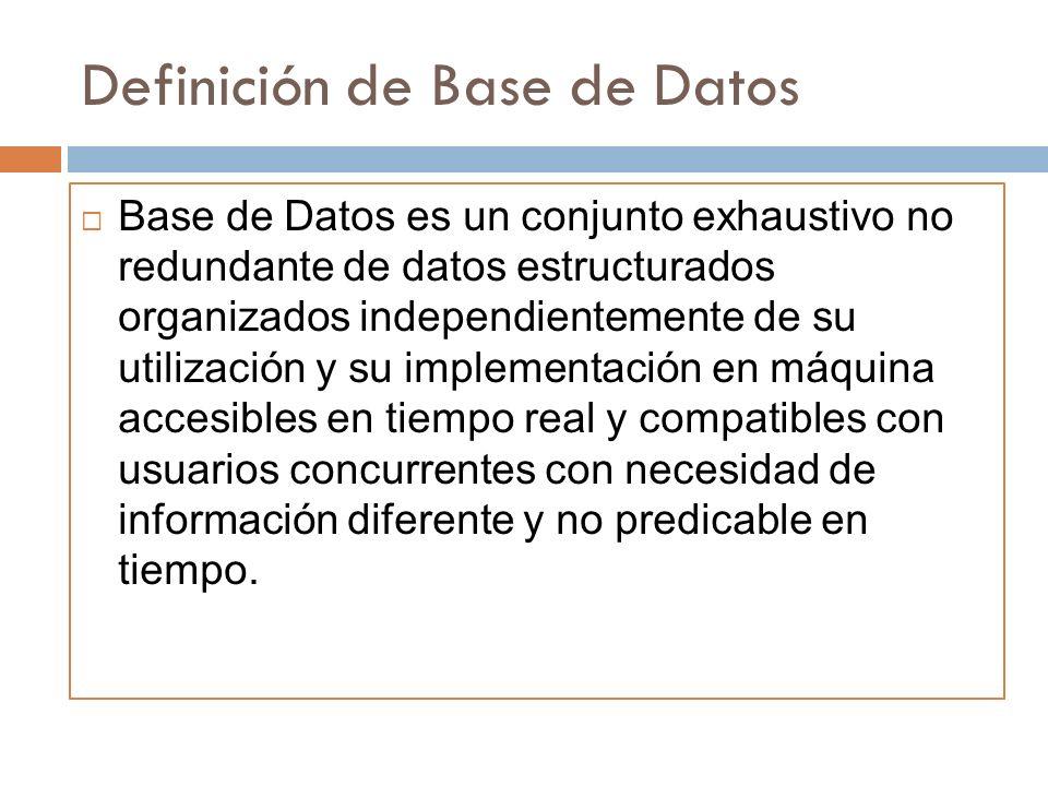 Definición de Base de Datos