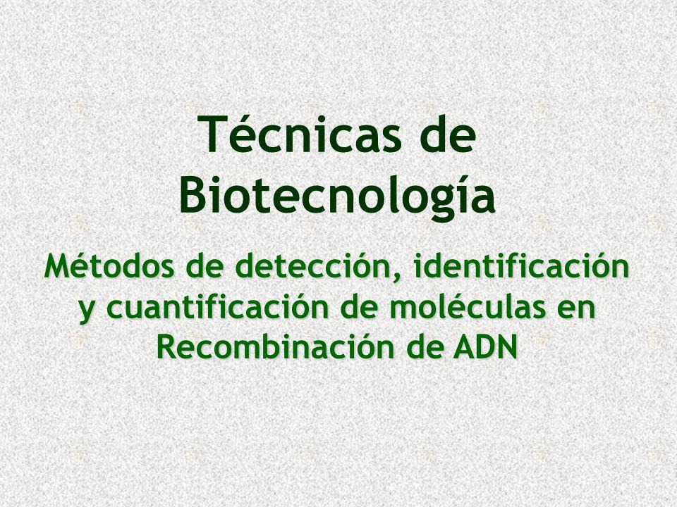 Técnicas de Biotecnología