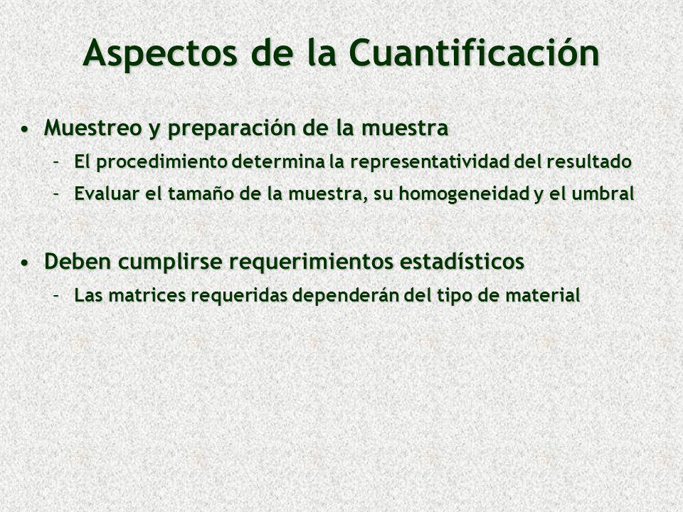 Aspectos de la Cuantificación