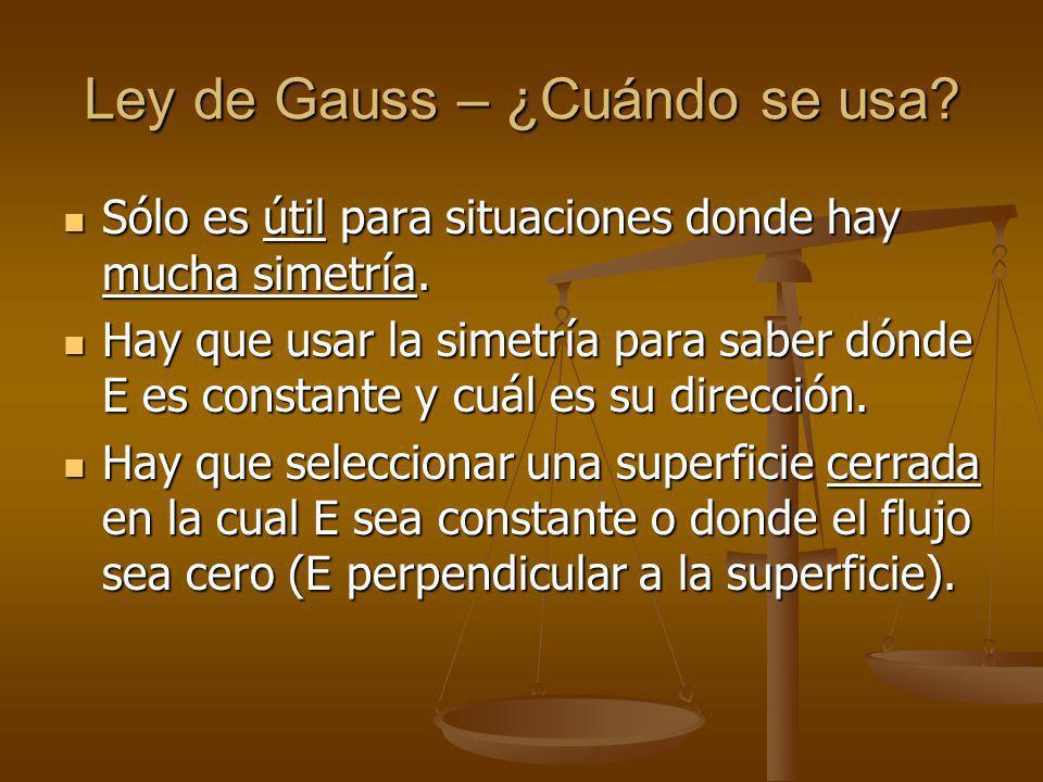 Ley de Gauss – ¿Cuándo se usa