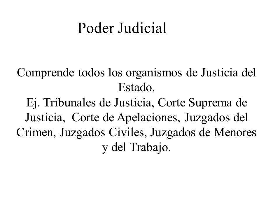 Comprende todos los organismos de Justicia del Estado.