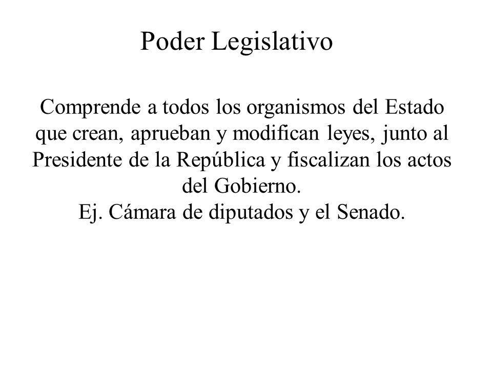 Ej. Cámara de diputados y el Senado.