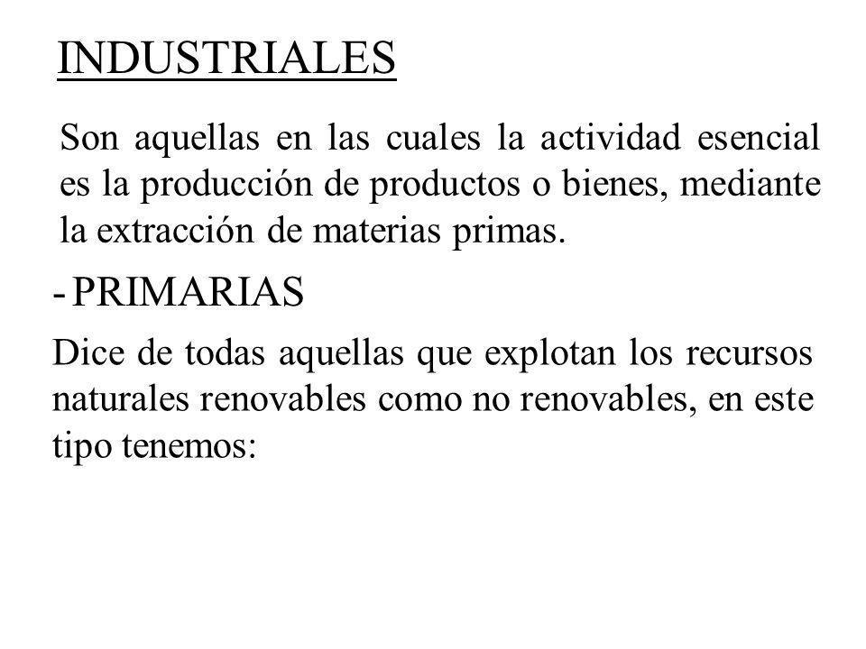 INDUSTRIALES - PRIMARIAS