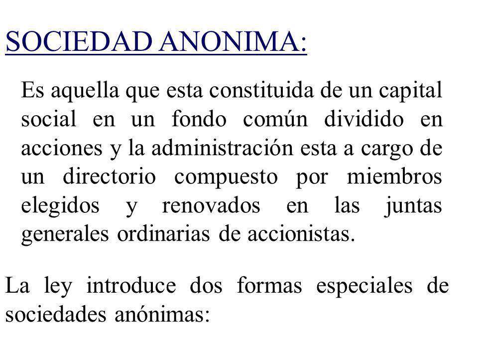 SOCIEDAD ANONIMA: