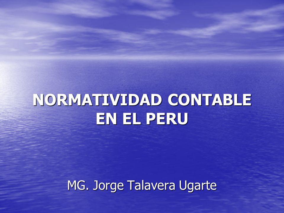 NORMATIVIDAD CONTABLE EN EL PERU