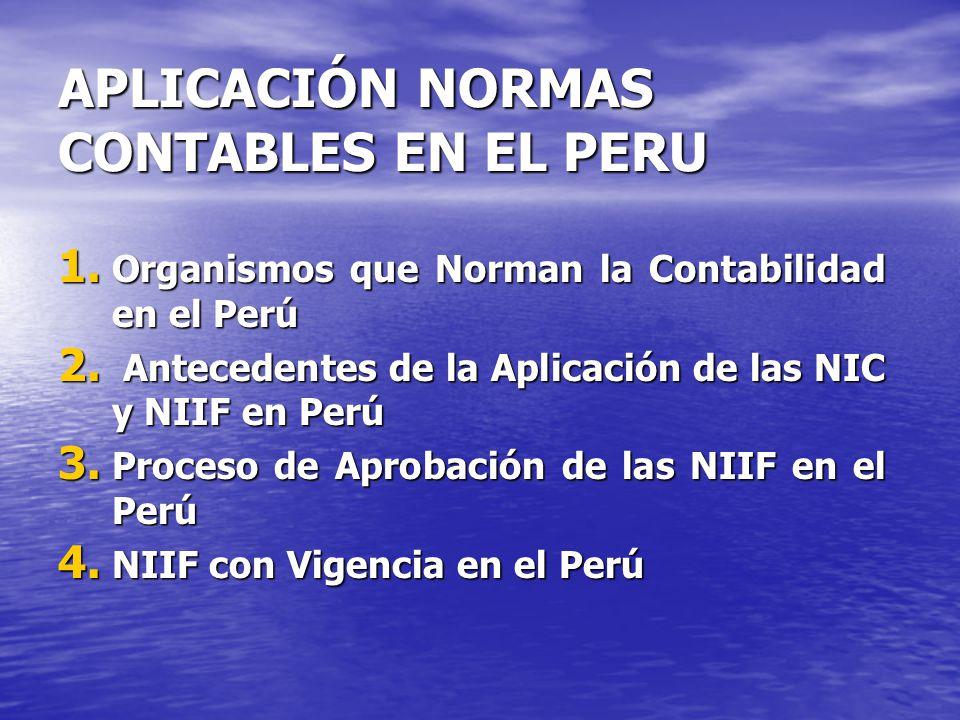 APLICACIÓN NORMAS CONTABLES EN EL PERU