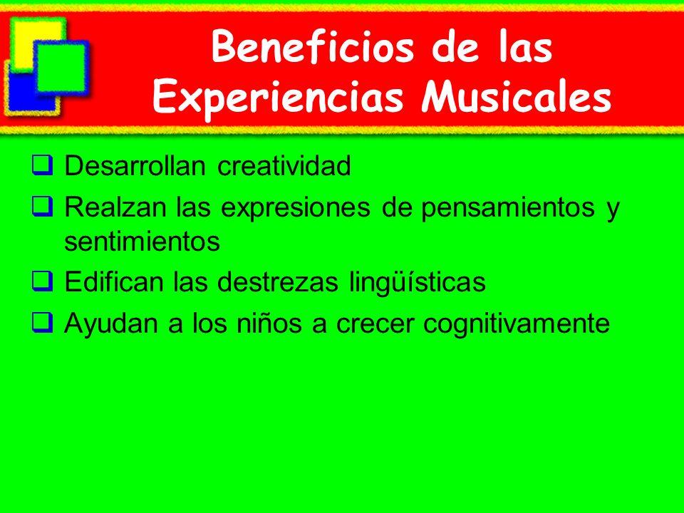 Beneficios de las Experiencias Musicales