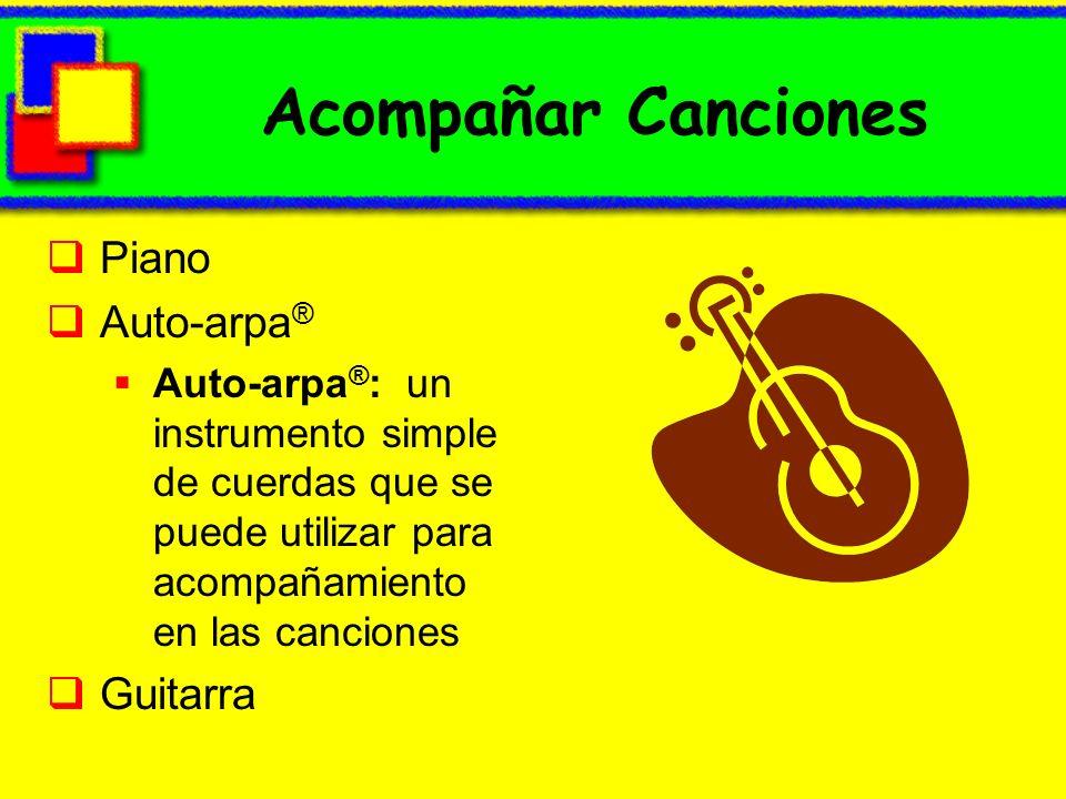 Acompañar Canciones Piano Auto-arpa® Guitarra
